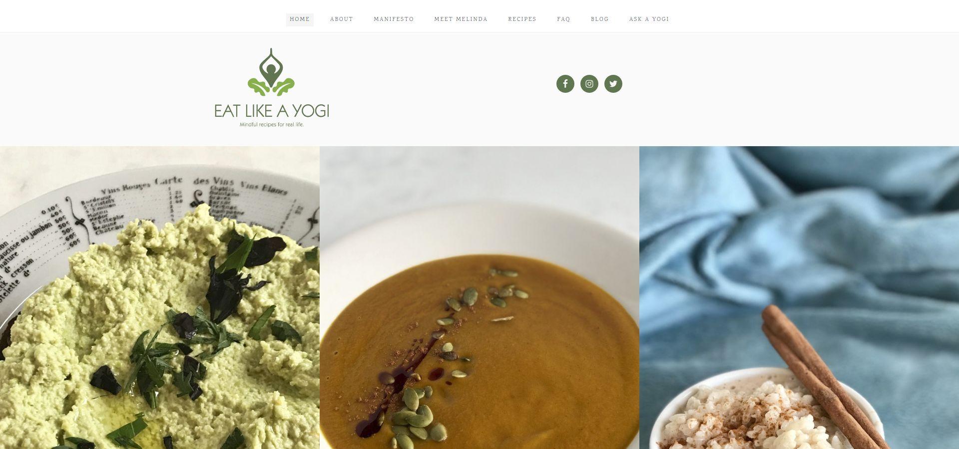Eat Like a Yogi website by Webcami
