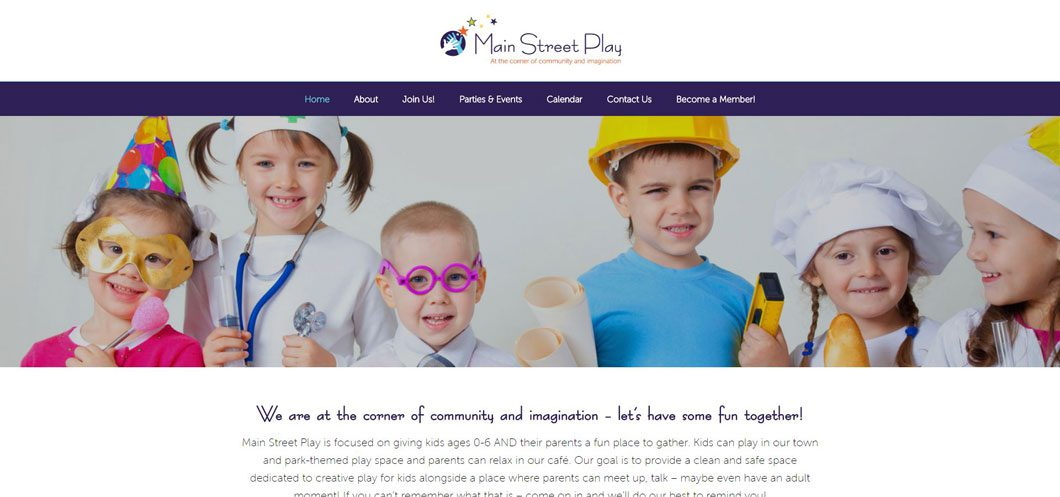 Main Street Play Website by Webcami