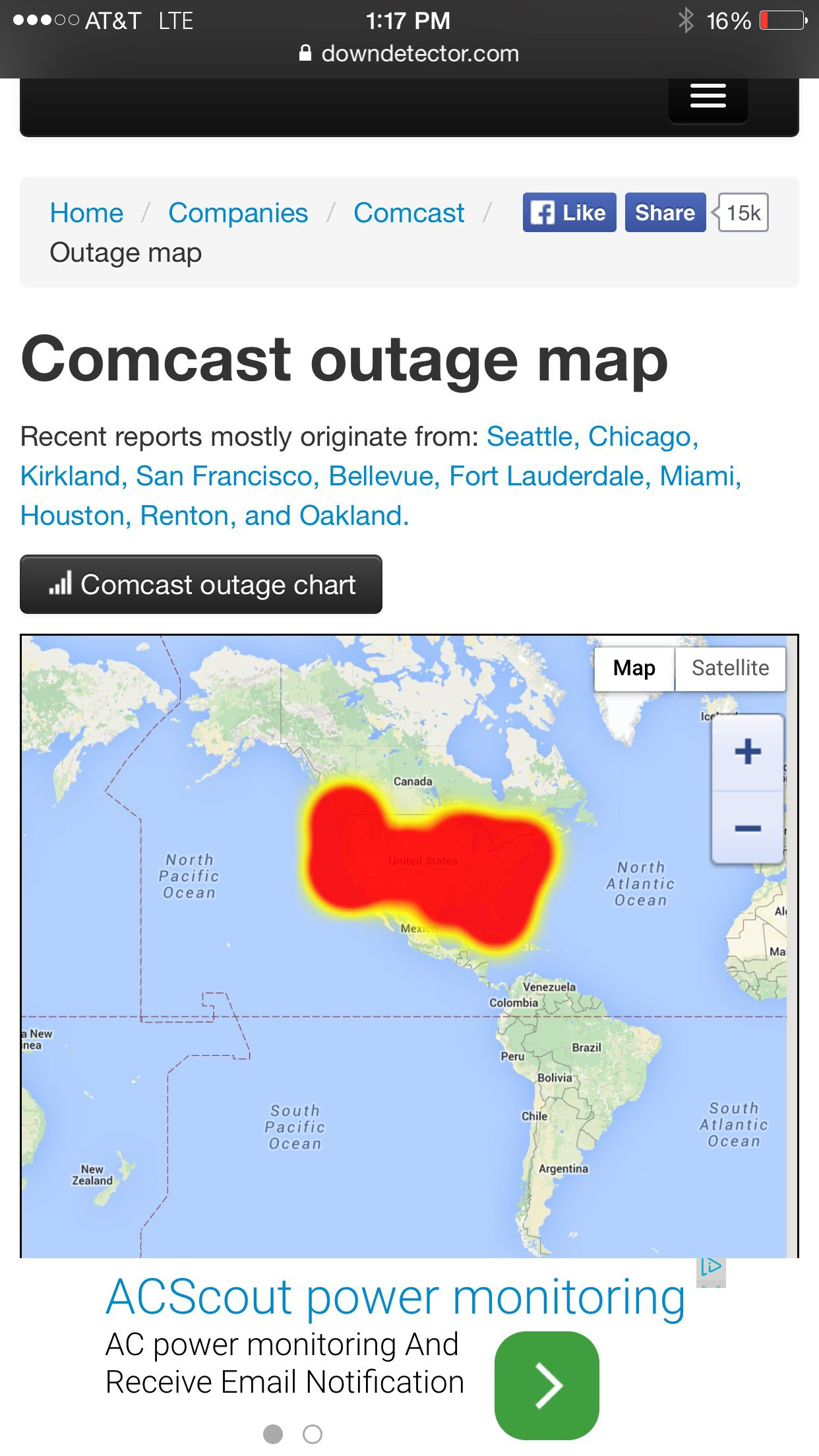 Massive 4th of July Comcast outage - WebCami - West ...
