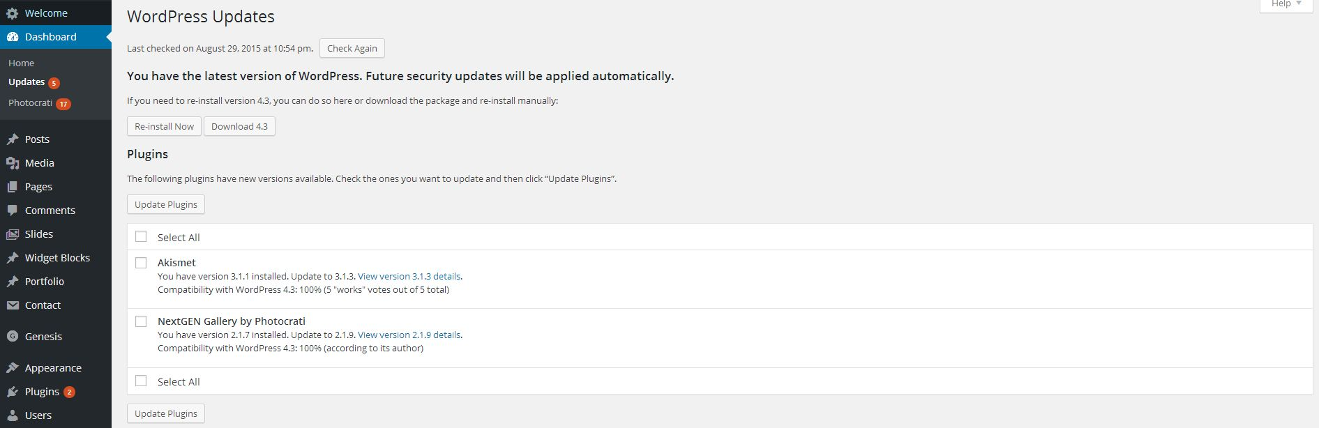 Plugins are were the most issues occur regarding updates. Make sure you have a back up of the previous version.
