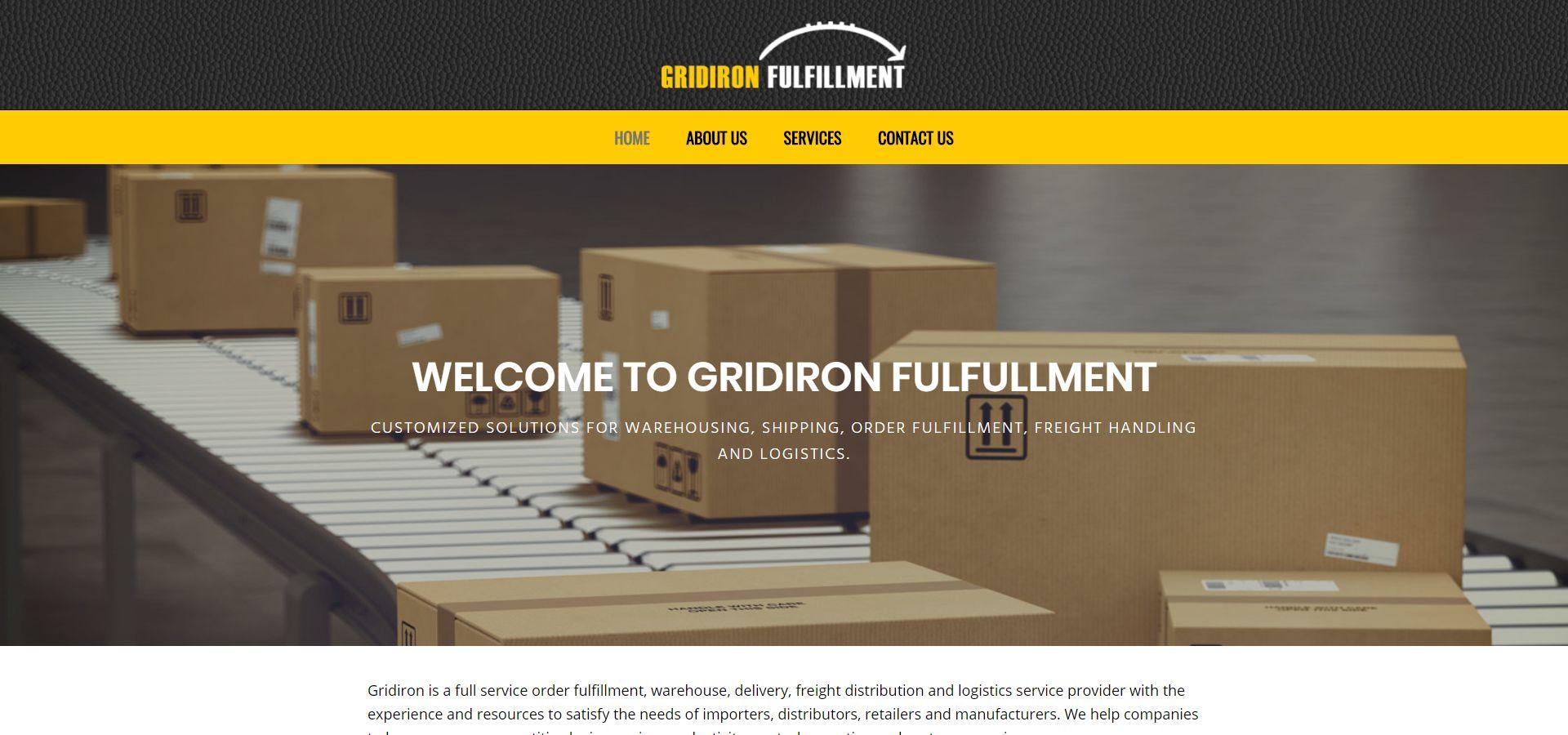 Gridiron Fulfillment website by Webcami