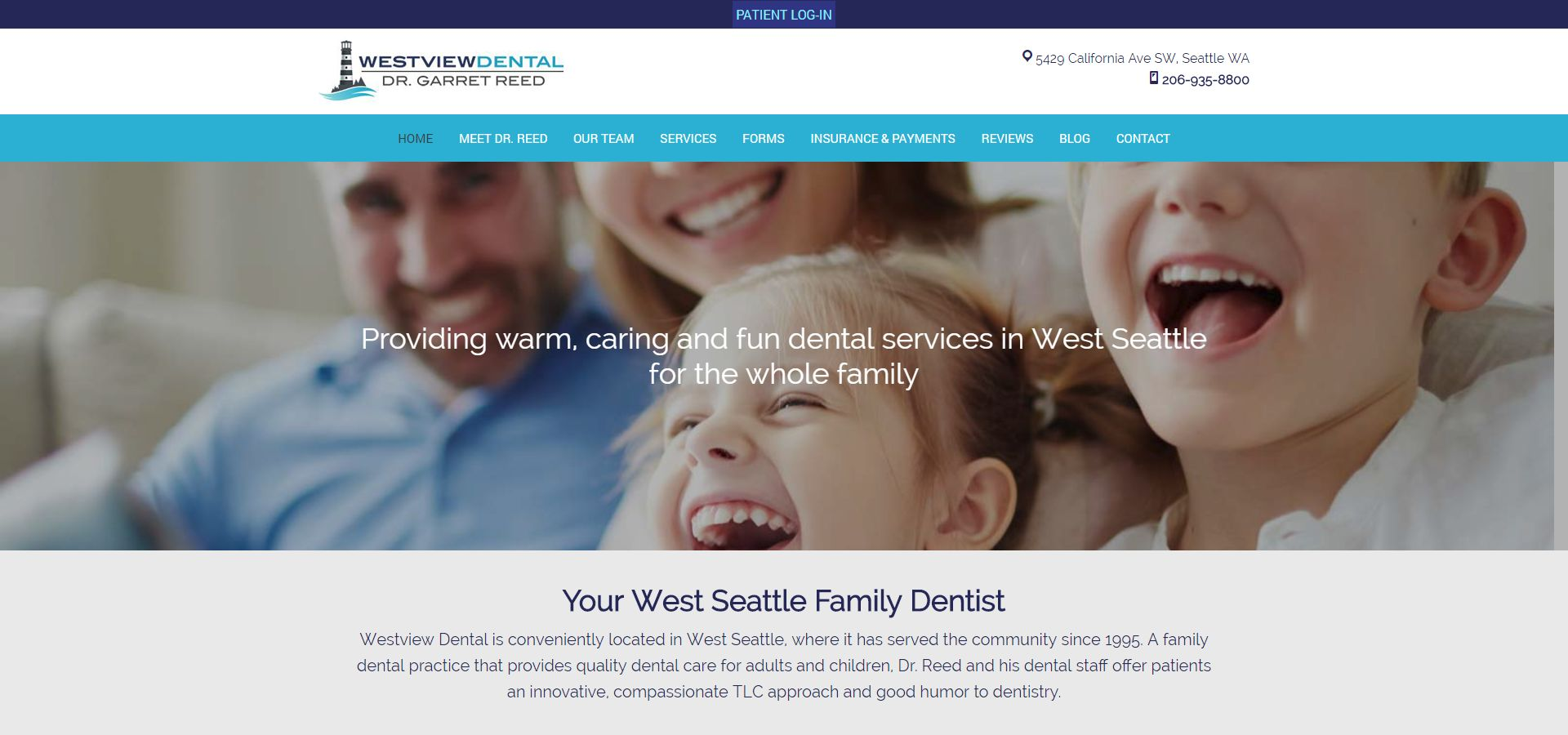 Westview Dental website by Webcami