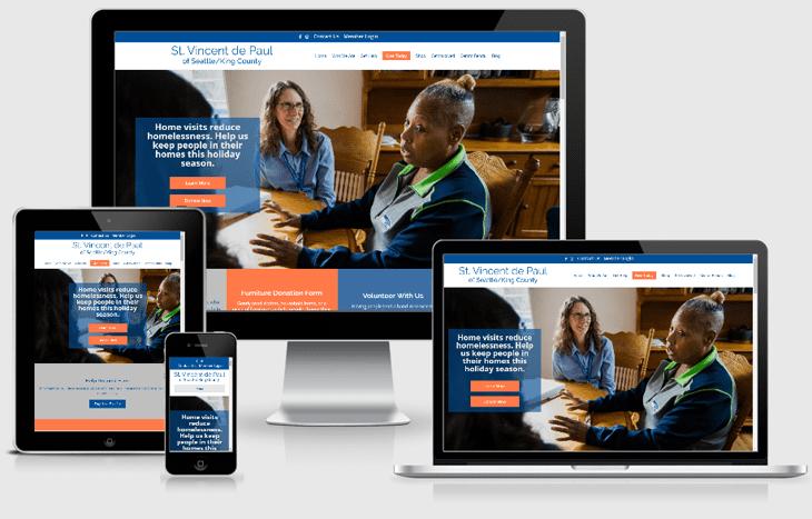 View of St. Vincent de Paul of Seattle website