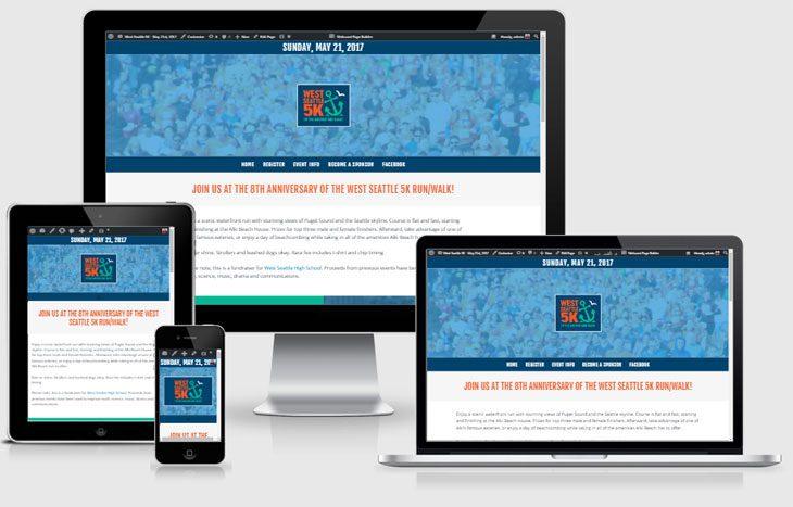 Website, West Seattle 5K, designed by Webcami