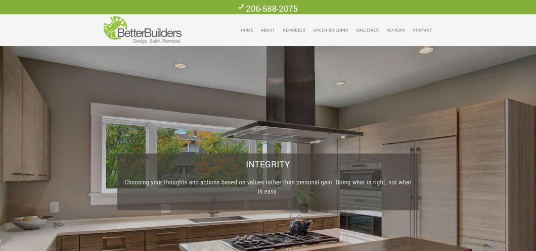 Better Builders website by Webcami