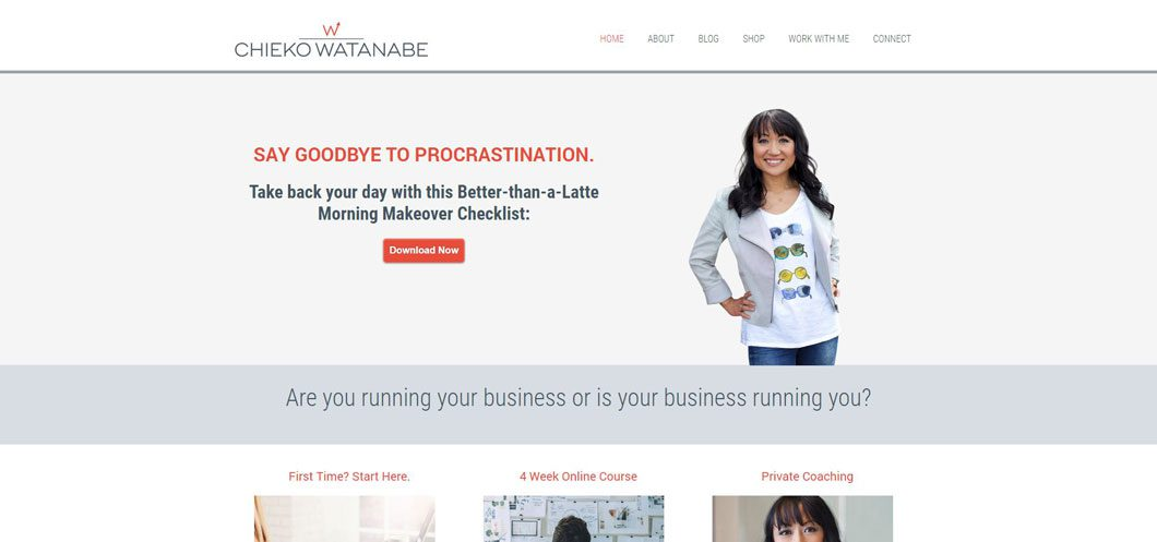Chieko Watanabe website by Webcami