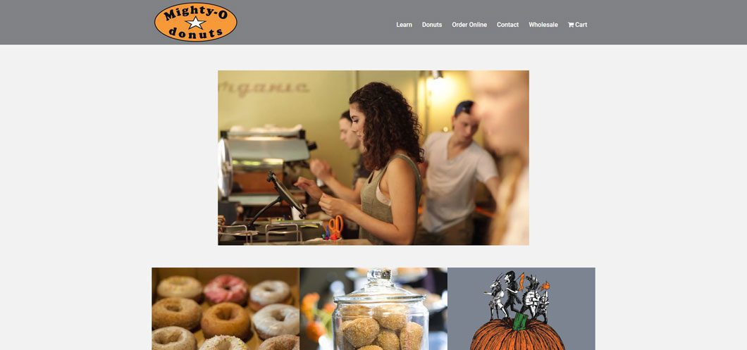 Mighty-O Donuts website by Webcami