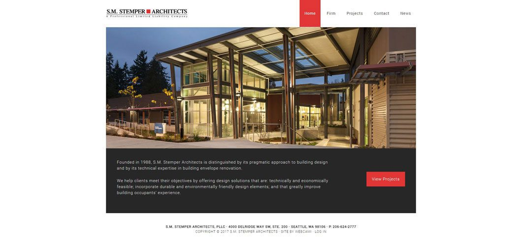 SM Stemper Architects website by Webcami