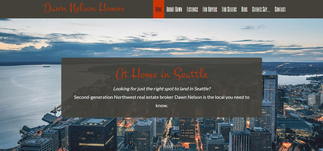 Dawn Nelson Homes website by WebCami