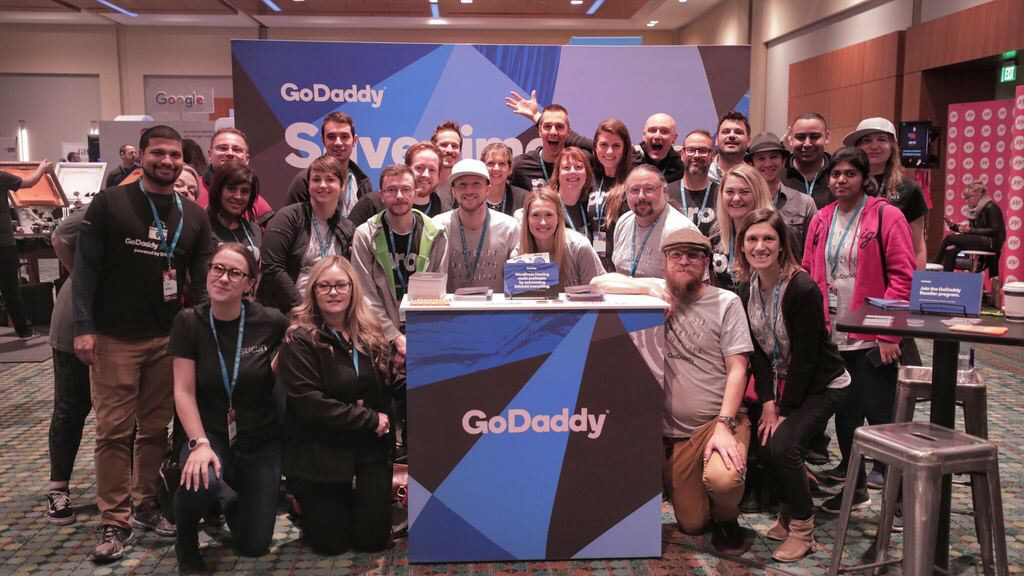 Team GoDaddy at WordCamp US 2018. I'm the first ever Web Pro Ambassador for GoDaddy!