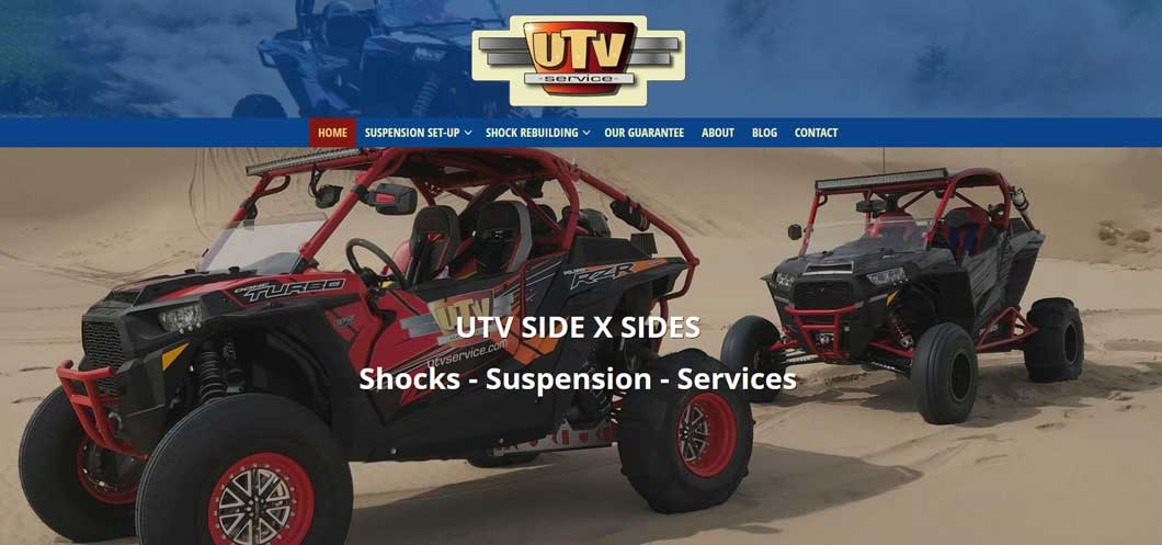 Screenshot of UTVService.com website by WebCami