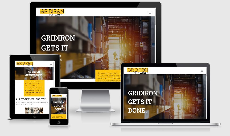 Mobile view of Gridiron Fulfillment website by WebCami