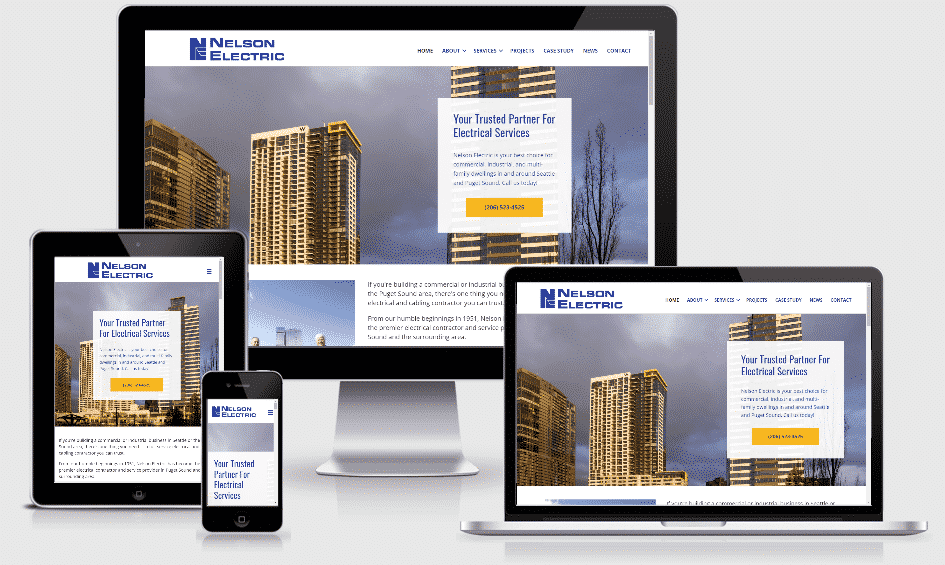 Nelson Electric Mobile Responsive website by WebCami