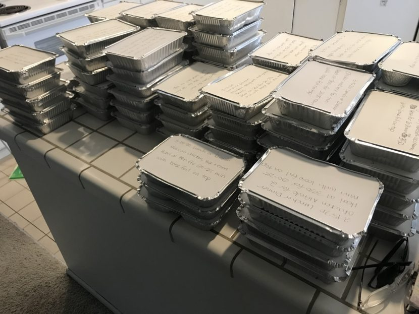 photo of food trays