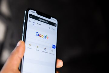 Phone view with Google page
