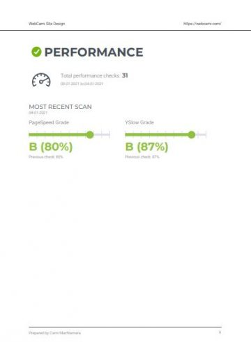 webcami care plan performance