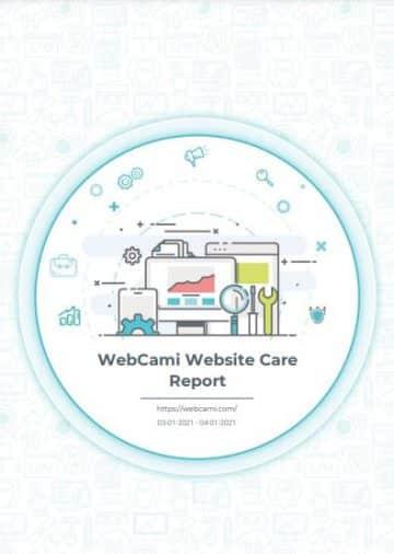 webcami care plan report cover