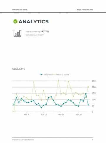 webcami care plan report seo