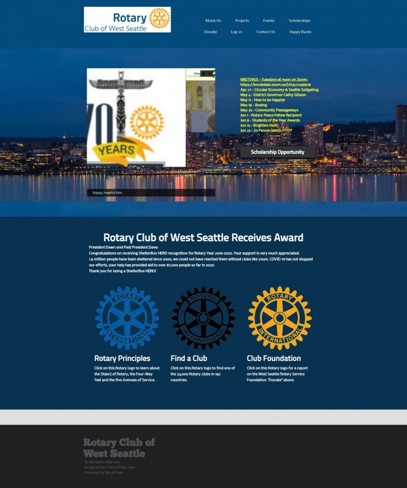 Rotary Club of West Seattle BEFORE
