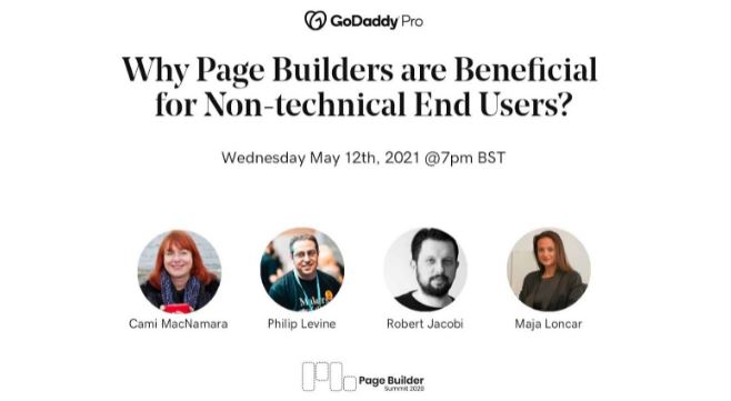 Page Builder Summit panel featuring WebCami