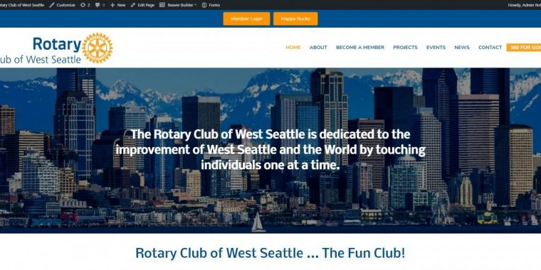 Rotary Club of West Seattle website by WebCami