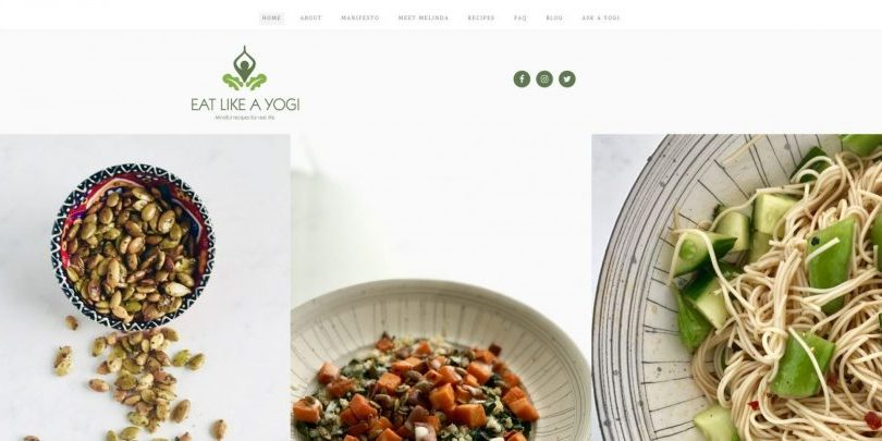 Food Blogger website design by WebCami