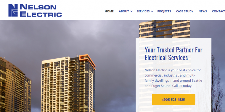 Nelson Electric Website by WebCami
