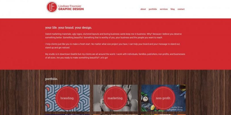 Seattle graphic designer website