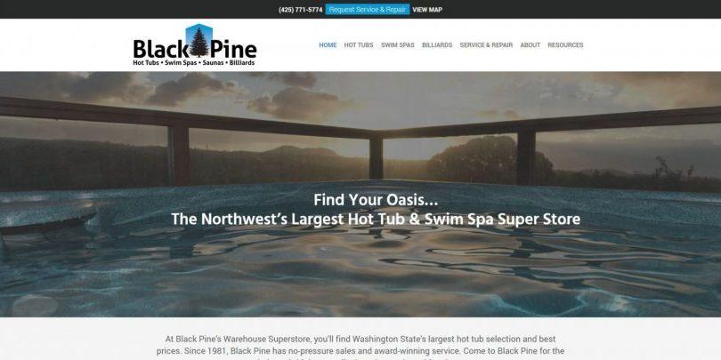 Spa Store website design by WebCami
