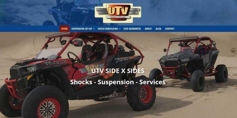 Screenshot of UTVService.com website by WebCami