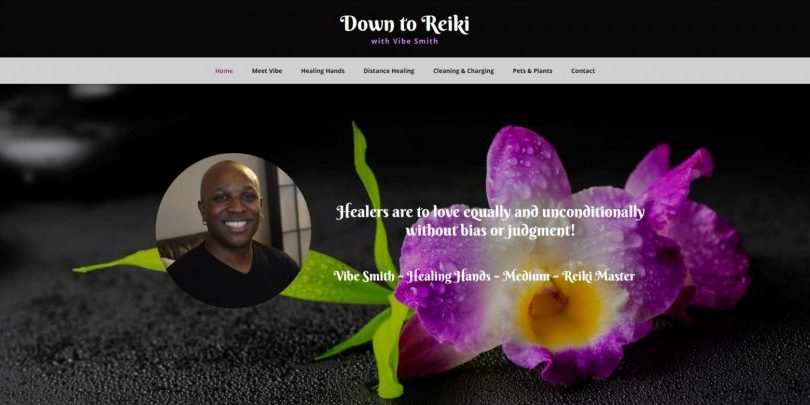 View of Down to Reiki website by WebCami on different devices